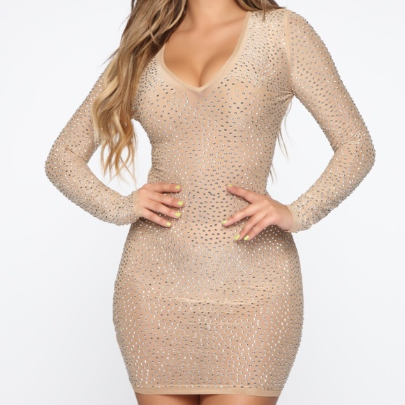 Fashion Nova Rhinestone Dress